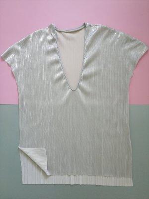 Zara Glanzende blouse zilver
