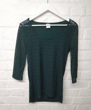 Shirt Bluse Spitze + Top Vero Moda Grün Tannengrün S/M
