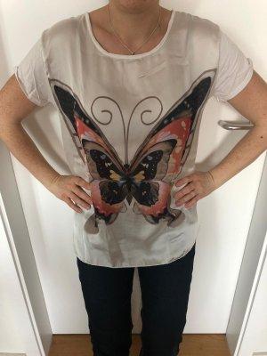 Shirt/Bluse Vestino weiß mit Schmetterling