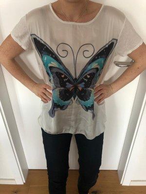Shirt/Bluse weiß mit blauem Schmetterling Vestino