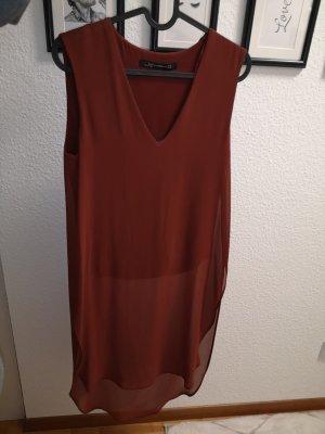 Shirt / Bluse Zara rot transparent