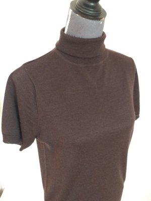 Comma Geribd shirt taupe-bruin