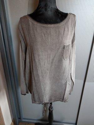 Shirt braun Pailletten Tredy neu