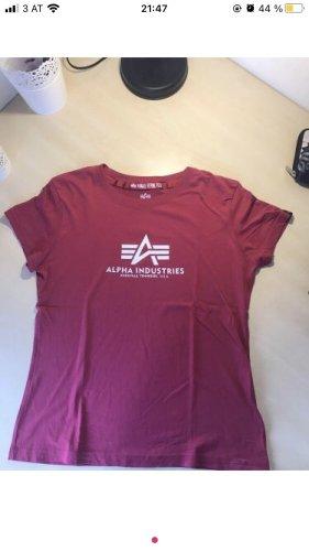 Alpha Industries T-shirt rouge framboise