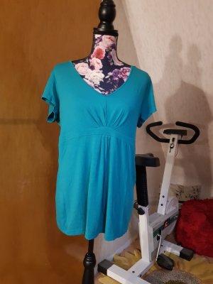 Melrose T-shirt col en V turquoise