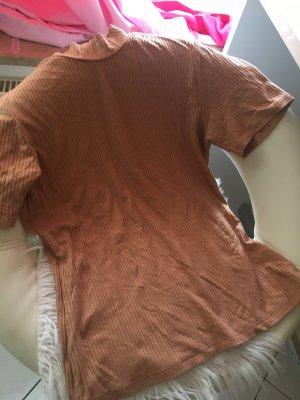 Camisa acanalada albaricoque Viscosa