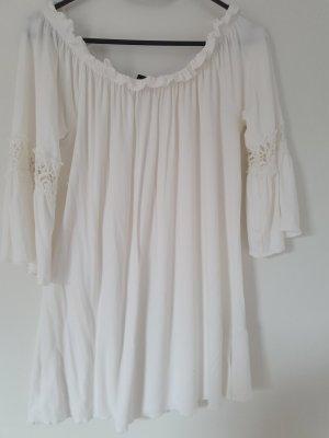 Melrose Top épaules dénudées blanc cassé