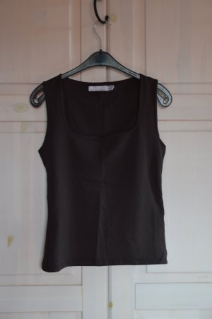 Zara Basic Boatneck Shirt taupe