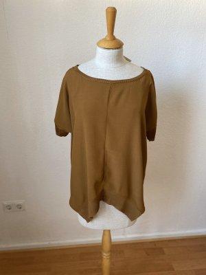 Zara Shirt Tunic ocher viscose