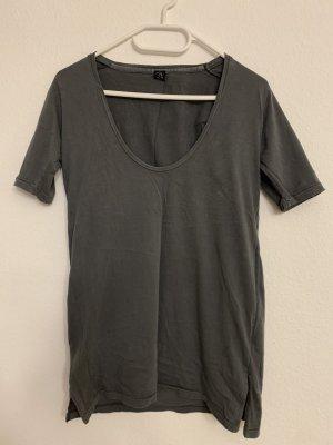 Cheap Monday Boatneck Shirt pale blue-grey cotton