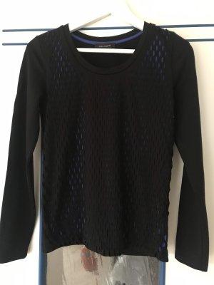 Cop Copine Camisa de malla negro-azul Viscosa