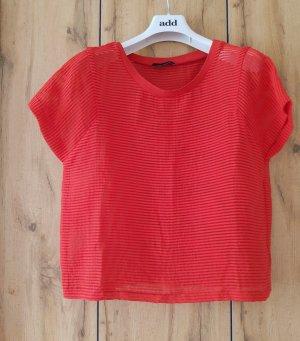 Cop Copine Boatneck Shirt brick red mixture fibre