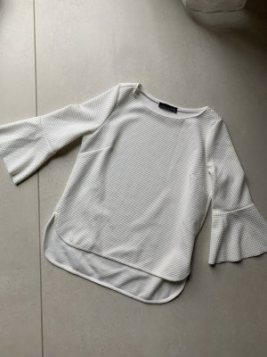 Shirt Creme Zara tropetenärmel Gr. S