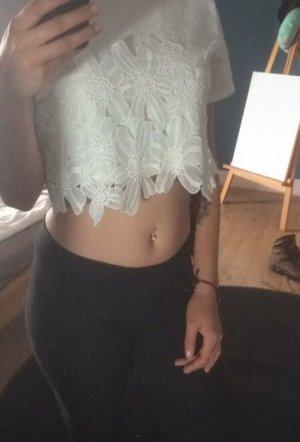 Camicia cropped bianco