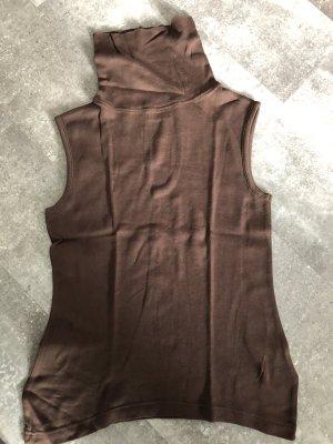 Camisa de cuello de tortuga marrón claro