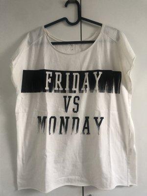 LTB Camisa holgada blanco-negro