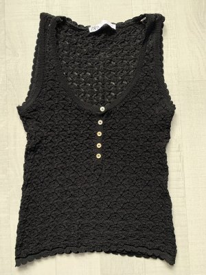 Zara Camiseta Básico negro