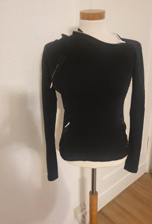 URBAN GIRL Koszulka z kapturem czarny