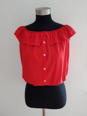 Camisa tipo Carmen rojo