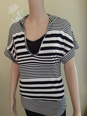 Mango T-Shirt white-black