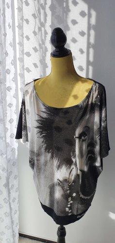 Desigual Oversized Shirt black-silver-colored