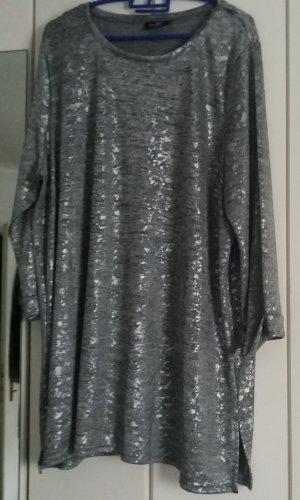 Gina Benotti Vestido estilo camisa color plata