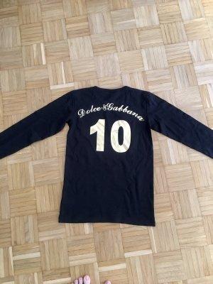 Shirt Dolce & Gabbana, Gr. M, Schwarz / Gold, Nummer 10