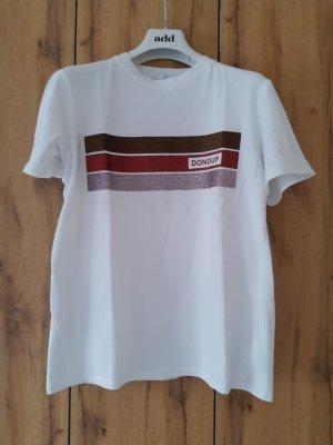 Dondup Oversized Shirt white-carmine cotton