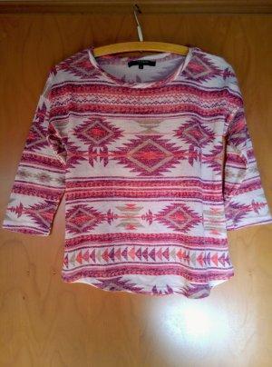Shirt / dünner Pullover bunt Azteken Reserved