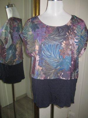 Shirt dunkelblau bunt Gr 42