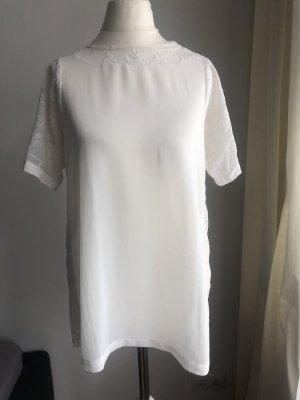 Shirt | Durchsichtig | Weiß