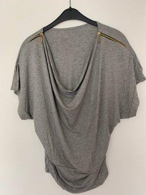 Koszulka z dekoltem woda srebrny