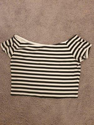 Clockhouse T-shirt court blanc-noir