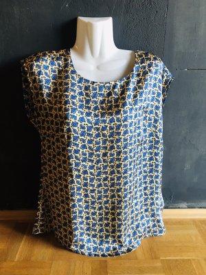 Alba Moda Shirt basique bleu foncé-brun sable