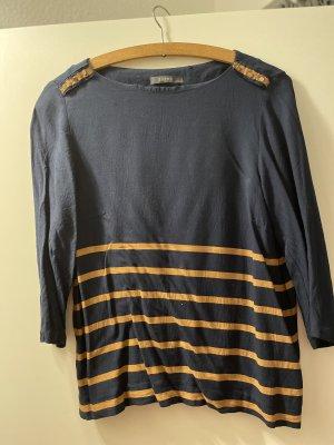Esprit Stripe Shirt dark blue-gold orange
