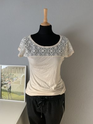 Esprit Crochet Shirt cream