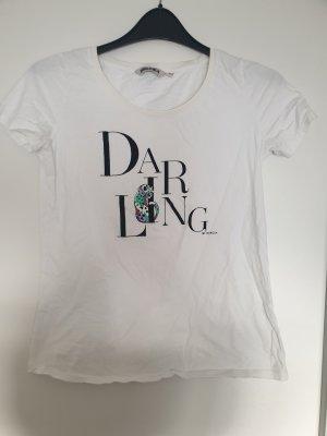 Garcia T-shirt imprimé blanc-noir
