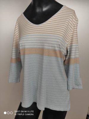Madeleine T-shirt bianco-azzurro