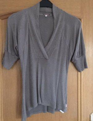 Blutsgeschwister T-shirt grijs-bruin
