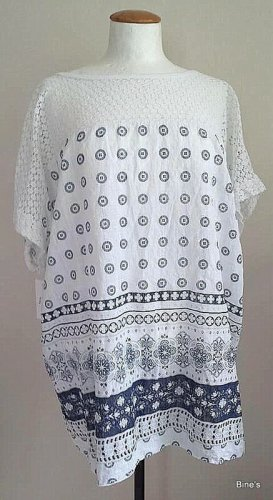 0039 Italy Oversized Shirt white-neon blue