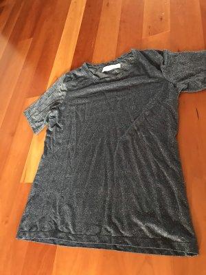 Zara Oversized Shirt silver-colored