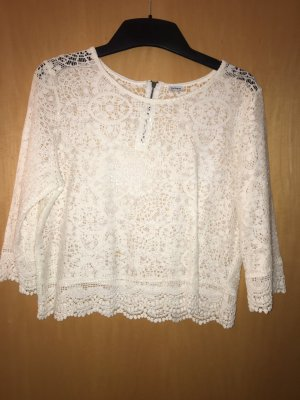 Pimkie Crochet Shirt white