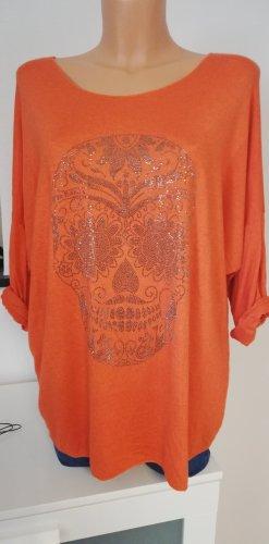 Made in Italy Gebreid shirt oranje
