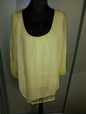 Shirt gelb Spitze Made in Italy