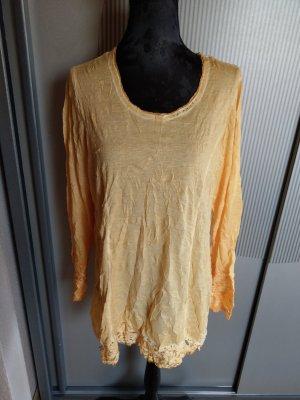 Shirt gelb Spitze Steinchen neu Tredy