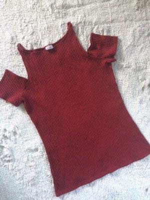 Shirt gerippt / Bordeauxrot / Gr.M / NEU