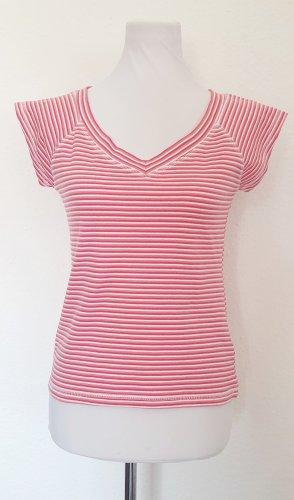 Shirt gestreift Gr 38 40 Streifen Shirt rot pink weiss