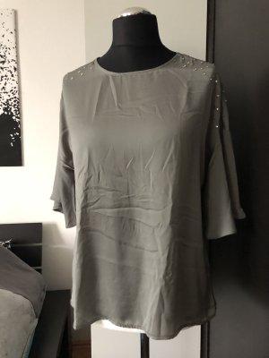 Shirt glänzend Oliv