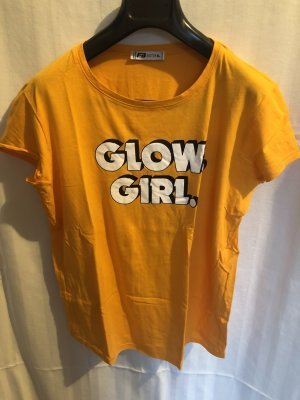 "Shirt ""glow girl"" Aufdruck 70ies Stil"