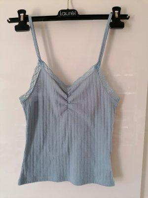 Pimkie Prążkowana koszulka jasnoniebieski
